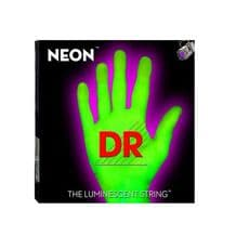 DR NEON NGE-10 Neon Green Luminescent/ Fluorescent Electric Guitar strings 10-46