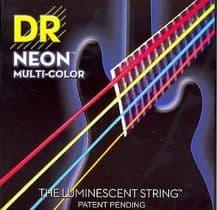 DR NEON NMCB5-45 Neon Multi Luminescent/Fluorescent Bass Guitar Strings 45-125