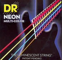 DR NEON NMCB6-30 Neon Multi Luminescent/Fluorescent 6 Bass Guitar Strings 30-125