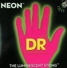 DR NEON NPB5-45 Neon Pink Luminescent/Fluorescent Bass Guitar Strings 45-125