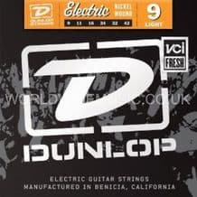 DUNLOP ELECTRIC GUITAR STRINGS LIGHT 9-42