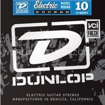 DUNLOP ELECTRIC GUITAR STRINGS LIGHT HEAVY 10-52