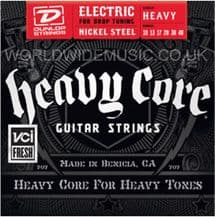 DUNLOP HEAVY CORE ELECTRIC GUITAR STRINGS .010 - .048