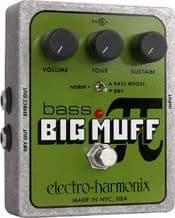 Electro Harmonix Bass Big Muff Distortion Sustain Pedal Stomp Box