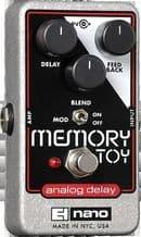 ELECTRO HARMONIX MEMORY TOY Analog Delay With Modulation Guitar Pedal Stomp Box
