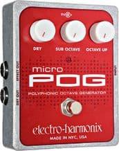 Electro Harmonix Micro Pog Polyphonic Octave Generator Guitar Pedal Stomp Box