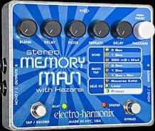 Electro Harmonix Stereo Memory Man With Hazarai Guitar Pedal Stomp Box