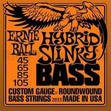 ERNIE BALL HYBRID SLINKY NICKEL ROUNDWOUND BASS GUITAR STRINGS