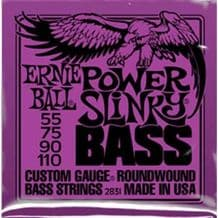 ERNIE BALL POWER SLINKY NICKEL ROUNDWOUND BASS GUITAR STRINGS