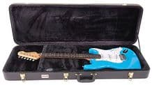 Kinsman CBG6 Hardshell Bass Guitar Flight. Case Plush Lined Interior, Wood Shell