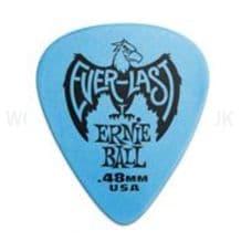 Pack of 12 Ernie Ball EVERLAST Delrin Guitar Picks - choice of Gauges (12 picks)