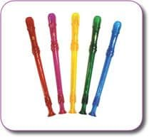 PACK OF 5 COLOURED HORNBY 'C' DESCANT RECORDERS