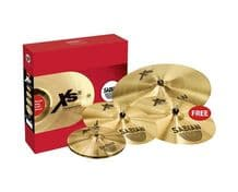 "Sabian XS20 Cymbal Set 14"" Hats 16"" & 18"" Crash 20"" Medium Ride - SABXS5005BG"