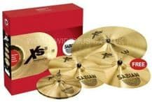 Sabian XS20 Promotional Cymbal Set 14 Hi Hats, 16 Crash, 20 Ride + FREE 18 Crash