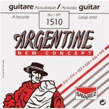 SAVAREZ Argentine 1510 Loop End Extra Light Acoustic Jazz Guitar Strings, 10 - 45