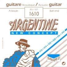 Savarez Argentine 1610 Ball End Extra Light Acoustic Jazz Guitar Strings, 10 - 45