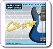 Set of 4 Bass Guitar Strings Medium Gauge 040-095