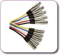 XLR Socket XLR Plug Microphone Cable 6 metres (choice of colours)